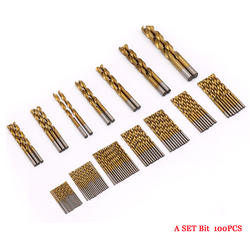 Набор 100 шт. бит высокая скорость сталь титановый кабель бит прямой хвостовик бит ручной 1,5 мм-мм 10 мм круглый