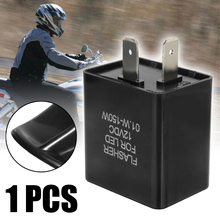For Turn Signal Light Indicator 1PC 12V 2Pin Motorcycle Electronic LED Flasher Relay Black Plastic Metal Flashing Blinker Replay