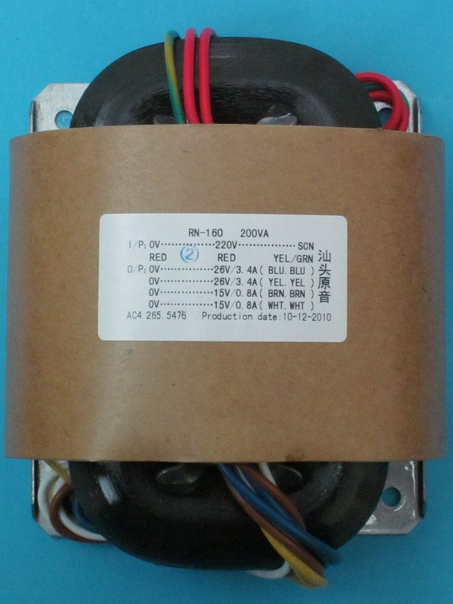 R Core Transformer copper custom transformer 220VAC 200VA 2*26AC 3.5A + 2*15V 0.6A with shield output for Power amplifier r core transformer custom transformer 0 100v 0 100vac 30va 2 15ac 0 a 2 9v 0 8a with copper shield output for power amplifier