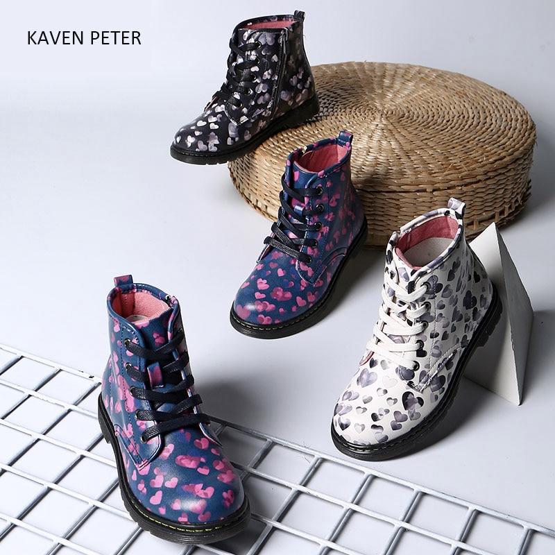 Children Shoes autumn 2017 font b ankle b font Martin font b boots b font kids