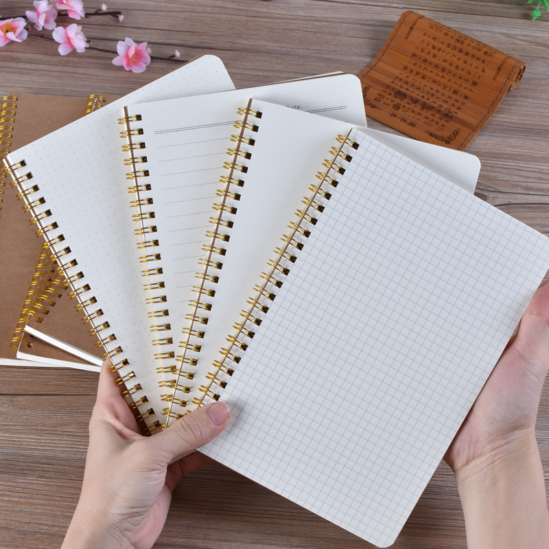 Notebook A5 Bullet Journal Medium Kraft Grid Dot Blank Daily Weekly Planner Book Time Management Planner School Supplies Gift