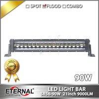 4pcs 21inch 90W Light Bar Truck Driving Headlamp Farm Transport Truck Led Tail Light Tractor Crane