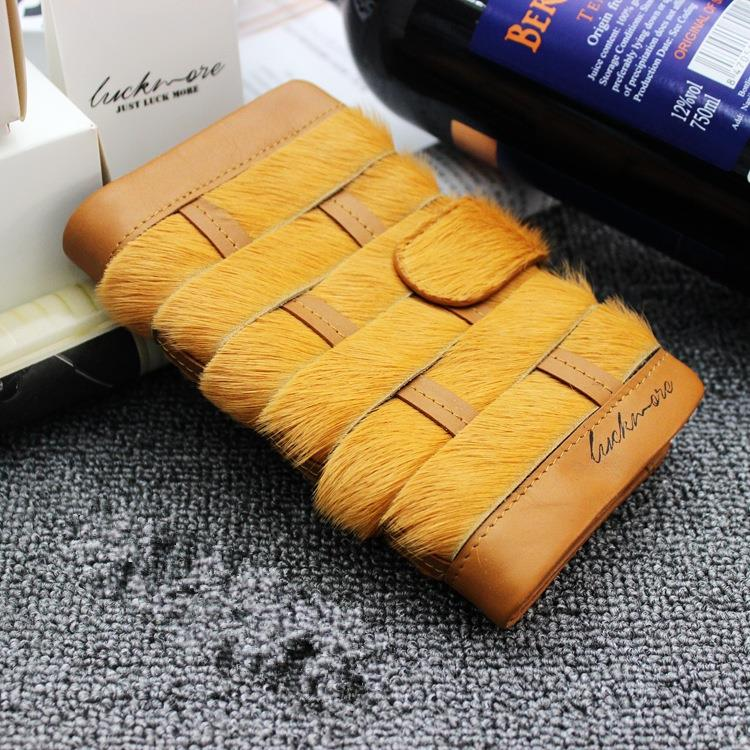 100% Genuine Leather Women Wallets Famous Brand Woman Wallet Purse Designer Fur Clutch Handbags for Women With Card Holders 2016