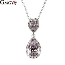 hot deal buy gmgyq collares largos de moda 2018 water drop necklaces pendants voor vrouwen chokers necklaces for women mermaid party gift