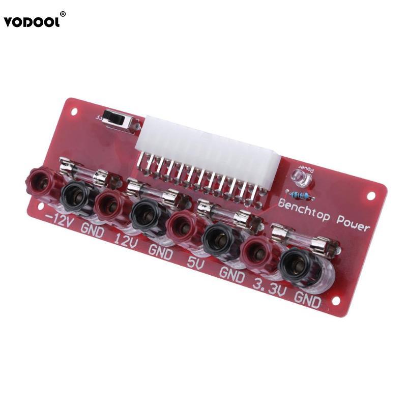 VODOOL ATX 24 Pin Computer PC Power Supply Bench Top Power Board Module Adapter12V-12V 5V 3.3V Desktop PC Retrofit Power Board