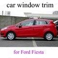 Для F-ord Fiesta Стайлинг автомобиля подоконник декоративные планки из нержавеющей стали внешние аксессуары
