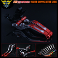 Red+Titanium 8 Colors New CNC Adjustable Folding Extendable Motorcycle Brake Clutch Levers For Honda CBR954RR 2002 2003