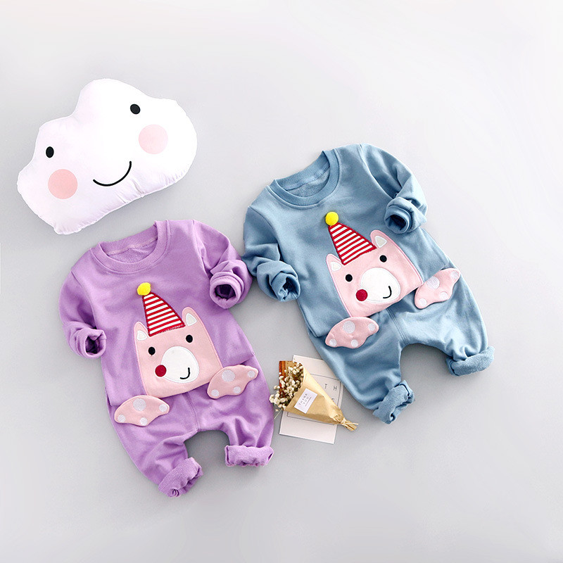 2017 New Baby Girls Clothes Cute Cartoon Newborn Long Sleeve Baby Rompers Boys Clothing Sets Roupas Bebe Infantil Costumes 2s148 penguin fleece body bebe baby rompers long sleeve roupas infantil newborn baby girl romper clothes infant clothing size 6m