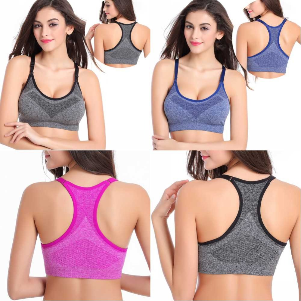 HTB15fkwLYPpK1RjSZFFq6y5PpXa6 - Women Professional Absorb Sweat Top Athletic Seamless Padded