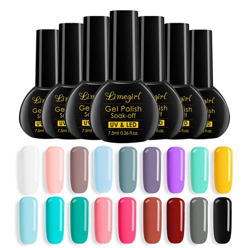 New Free Shipping Nail Art Design Manicure 40Color 7.5Ml Soak Off Enamel Gel Polish UV Gel Nail Polish gel Lacquer Varnish