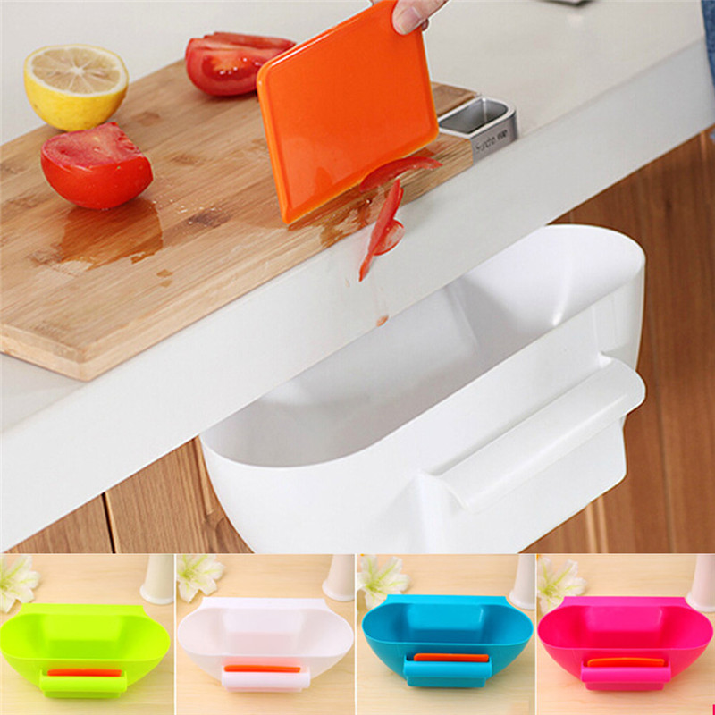 New design plastic kitchen mini trash can over the cabinet for Household waste design