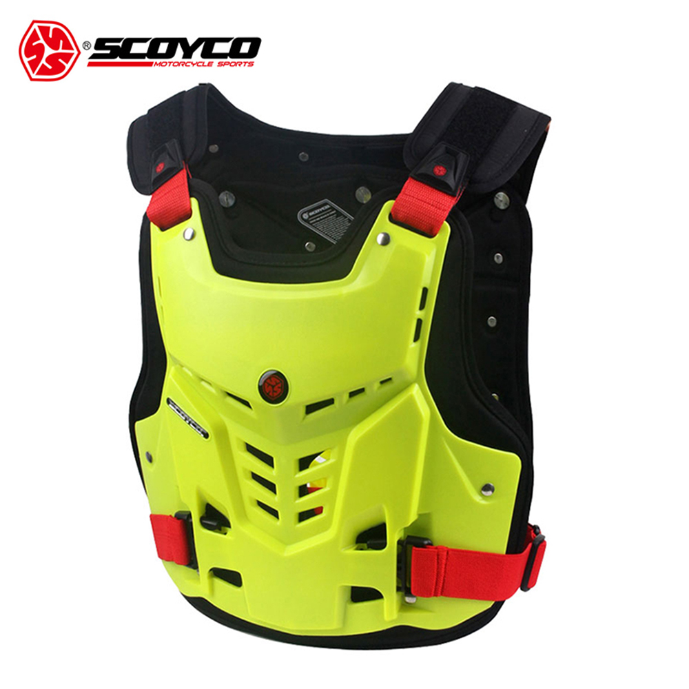 SCOYCO Motorcycle Armor Vest Motorbike Chest Back Protection Gear Motocross Armor Racing Vest Motorcycle Protector Equipment scoyco motorcycle riding knee protector extreme sports knee pads bycle cycling bike racing tactal skate protective ear