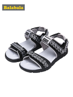 Balabala 2019 summer kids shoes brand toddler boys sandals orthopedic sport pu leather baby boys sandals shoes
