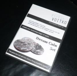 Rêve Coin Set (DVD + Gimmick) tours de Magie en Scène Magique Apparaissant/Disparition Coin Magie Illusion Prop Magicien Classique Jouets