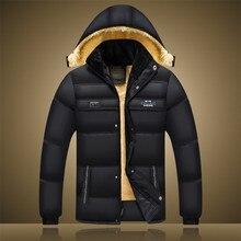 Новая мужская одежда свободные большие ярдов утолщение хлопка мягкой одежда теплая Среднего Возраста и старых пальто вскользь уменьшают fit куртка парка