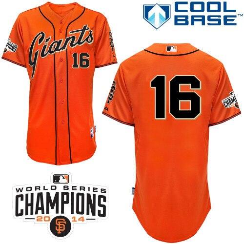 ccd6b8ac5ef White Orange San Francisco Giants Jerseys 16 Angel Pagan Jerseys Short  Men s Baseball Uniforms Cheap Sportswear High Quality 16-in Baseball Jerseys  from ...