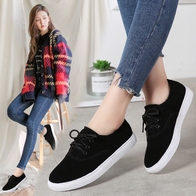 TKN 2018 winter flats oxford shoes for women leather suede sneakers lace up boat shoes women round toe flats moccasins 1376