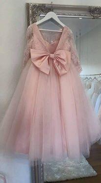 Cute Pink   Flower     Girls     Dress   2017 Shining Beading Lace Applique Ball Gown   Flower     Girl     Dress   Kids For Wedding Bride   Dress