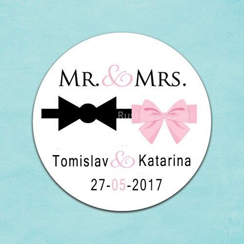 Us 888 5 Offaliexpresscom Benutzerdefinierte Hochzeit Aufkleber Hochzeit Gefälligkeiten Personalisierte Mr Mrs Etiketten Smoking Bogen Und