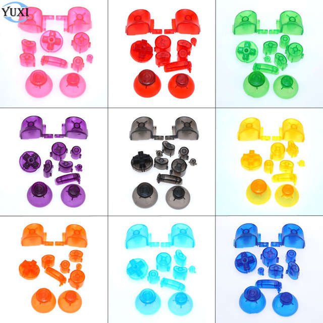 US $1 18 18% OFF|YuXi Full set L R ABXY Z Keypads Buttons For GameCube  Buttons Frame For NGC D Pads Power ON OFF Buttons & Joystick Stick Cap-in
