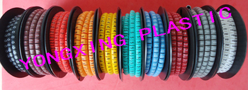 10 roll(10000pcs)/lot EC-1 2.5mm square mark cable 10 different number and color