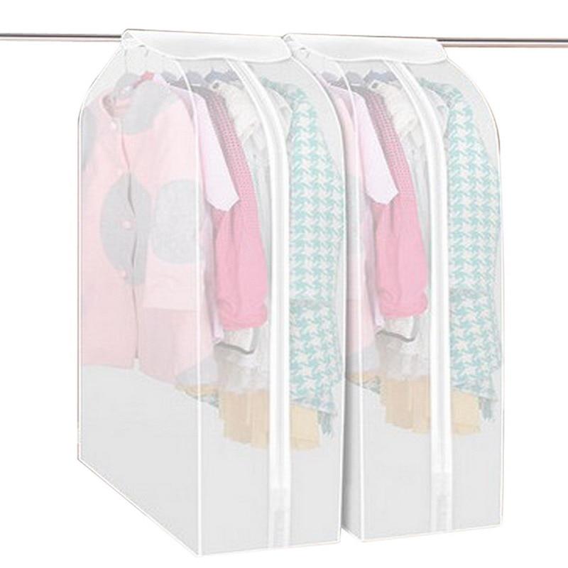 Bolsa de almacenamiento a prueba de polvo Cubierta Traje Traje Abrigo Cubierta de polvo Protector Guardarropa Bolsa de almacenamiento Bolsas de vacío Hogar Organizador de ropa