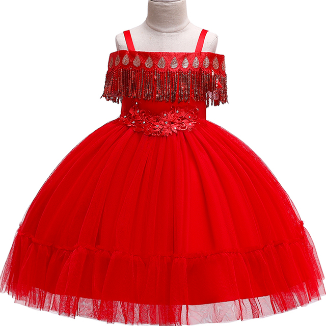 Flower Girl Dress Formal 3-10 Years Floral Baby Girls Dresses Vestidos 9 Colors Wedding Party Children Clothes Birthday Clothing
