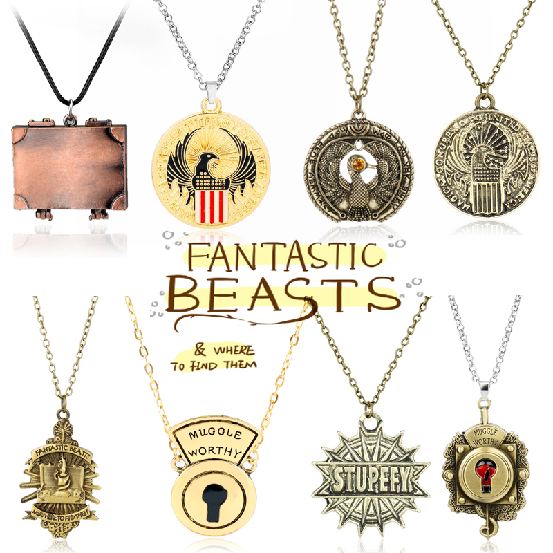 Harry Potter and Fantastic Beasts necklace charms badges All brand new