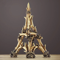 Creative Antlers Paris Eiffel Tower Decoration porch wine cabinet study home decorations American European Eiffel