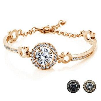 Stones & Crystal Metal Bracelet