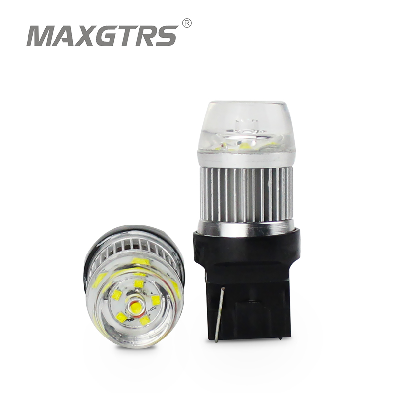все цены на 2x New arrival W21W LED Reverse Lights 800LM 30W CREE Chip XBD T20 Lamp WY21W 7440 Rear Tail Brake Light LED Parking Bulb White
