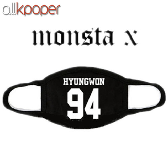 ALLKPOPER Kpop MONSTA X Mask Cotton Mouth HYUNGWO Face Muffle I.M SHOWNU WONHO MINHYUK 1