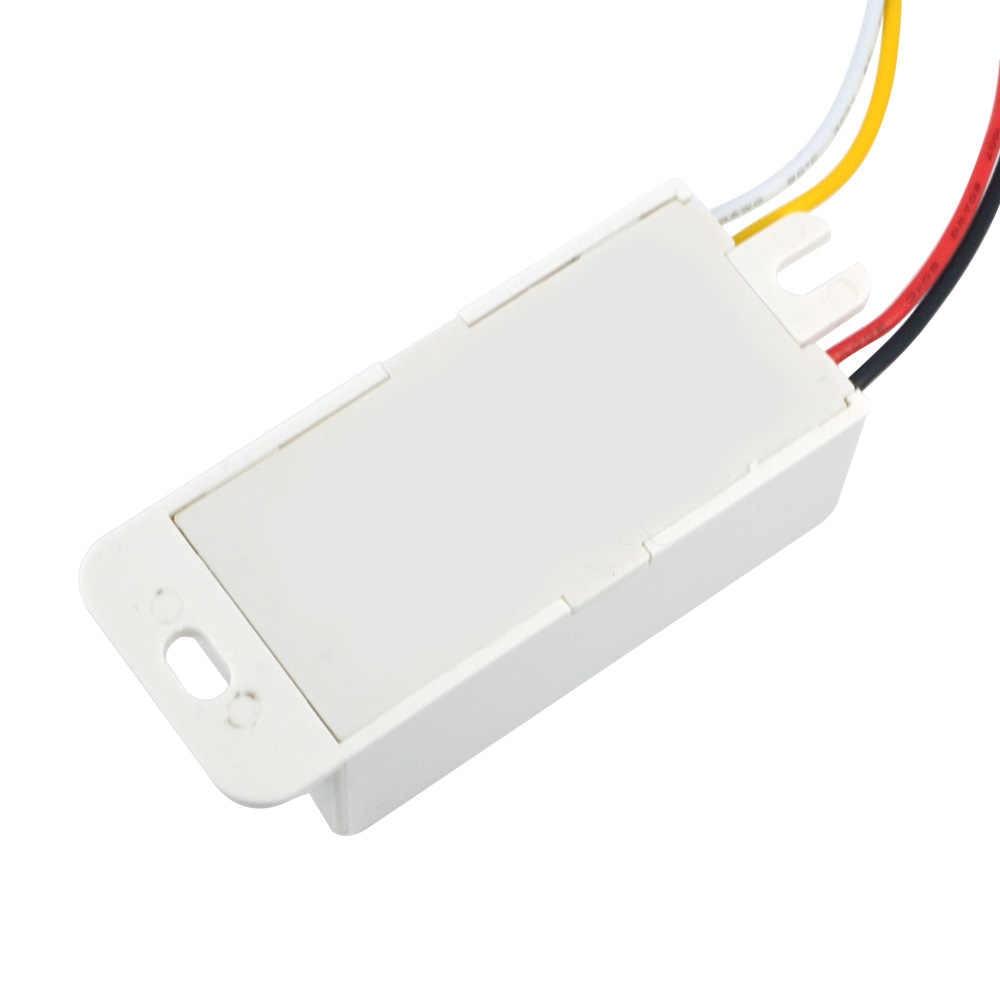 1ピースac220vスイッチマイクロ波レーダーボディセンサースイッチ光制御スイッチ遅延距離は調整可能なアクティブコンポーネントセンサー
