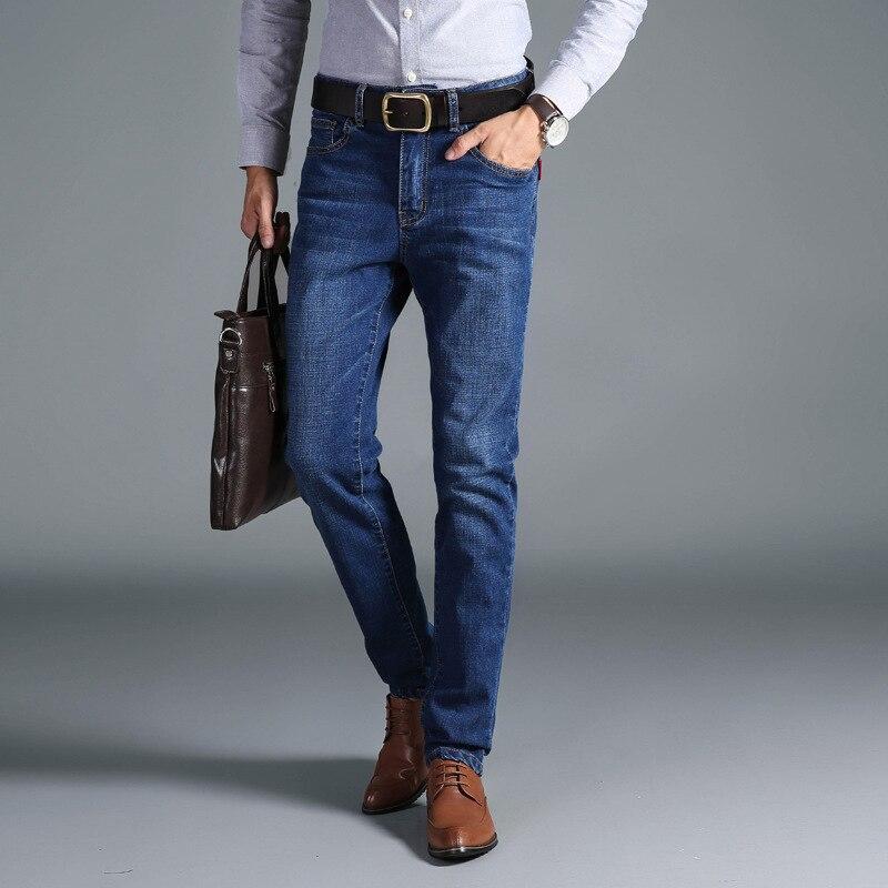 2019 Couleur Jeans Smart Hommes Classique Printemps Simple Fit Pu Élastique Casual Ciel Pantalon Mode Straight Bleu Business qf6YwnSx Long pUzSMVGLq