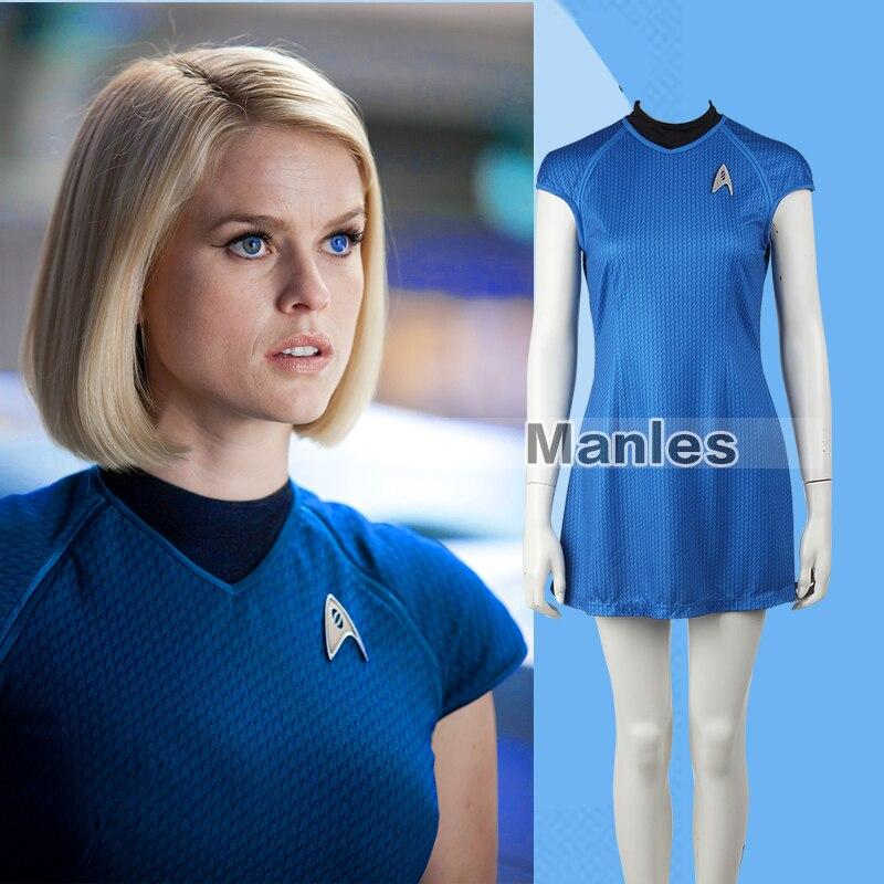 8a7a6768ccaf0 Içine Star Trek Darkness Carol Cosplay Kostüm Mavi Carol Marcus Cosplay  Kostüm Yetişkin Kadın Elbise Üniforma Kadın Özelleştirilmiş