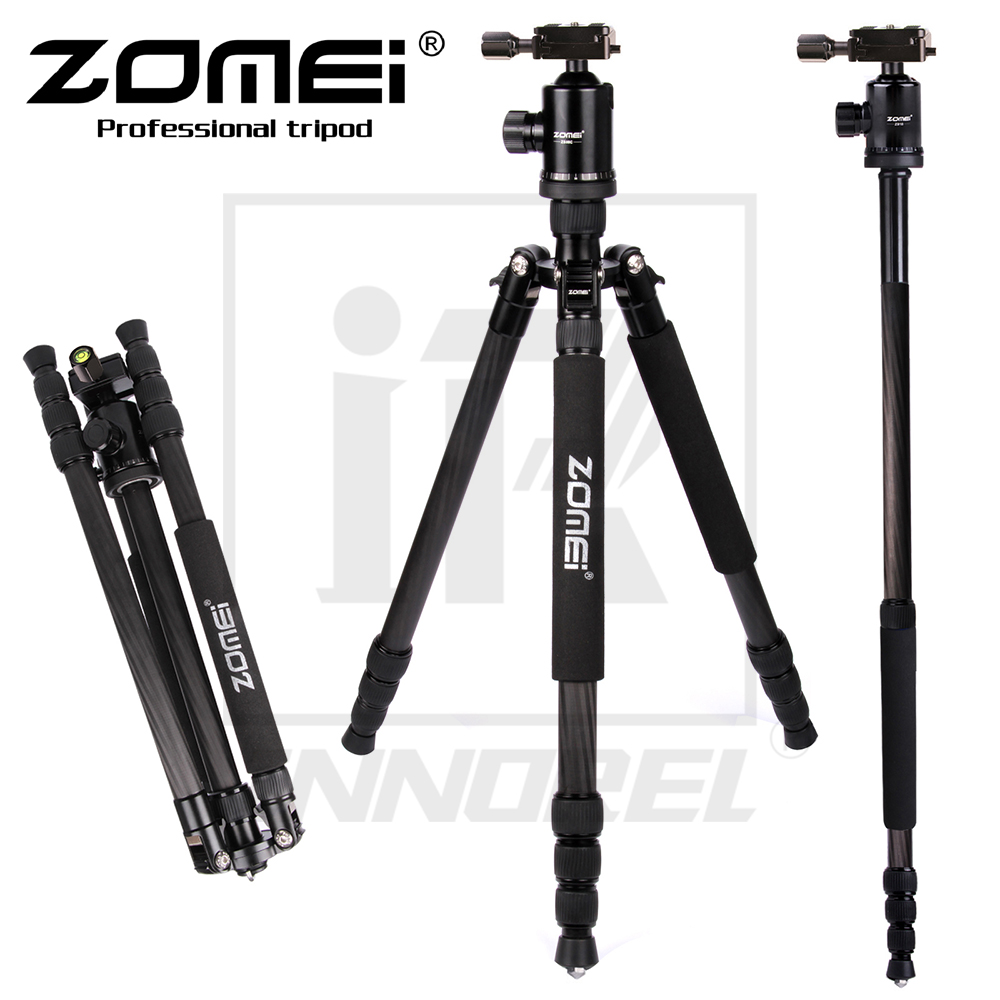 Zomei Z888C Professional Aluminium Alloy Tripod Kit Monopod Z818C For DSLR Camera Five Colors Available Light Compact Portable цена