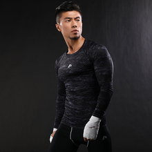 camouflage Arrival Quick Dry Compression Shirt Long Sleeves T shirt Fitness Clothing Solid Colorquick Dry Bodybuild
