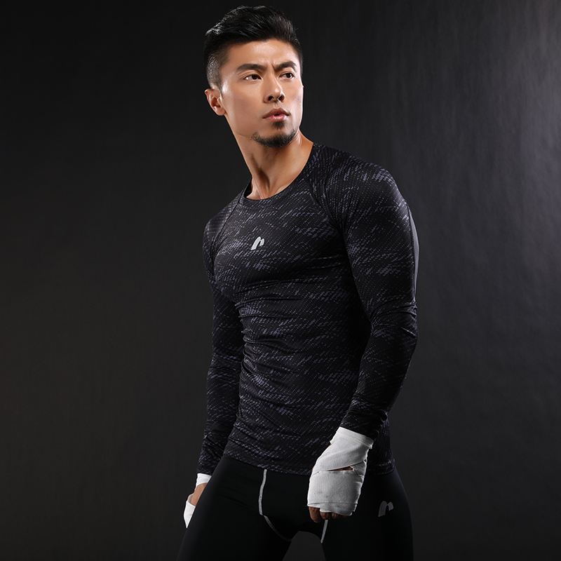 camouflage Arrival Quick Dry Compression Shirt Long Sleeves T shirt font b Fitness b font Clothing