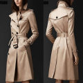 British Style Trench Coat For Women 2017 New Women's Coats Spring And Sping Double Button Over Coat Long Plus Size XXL