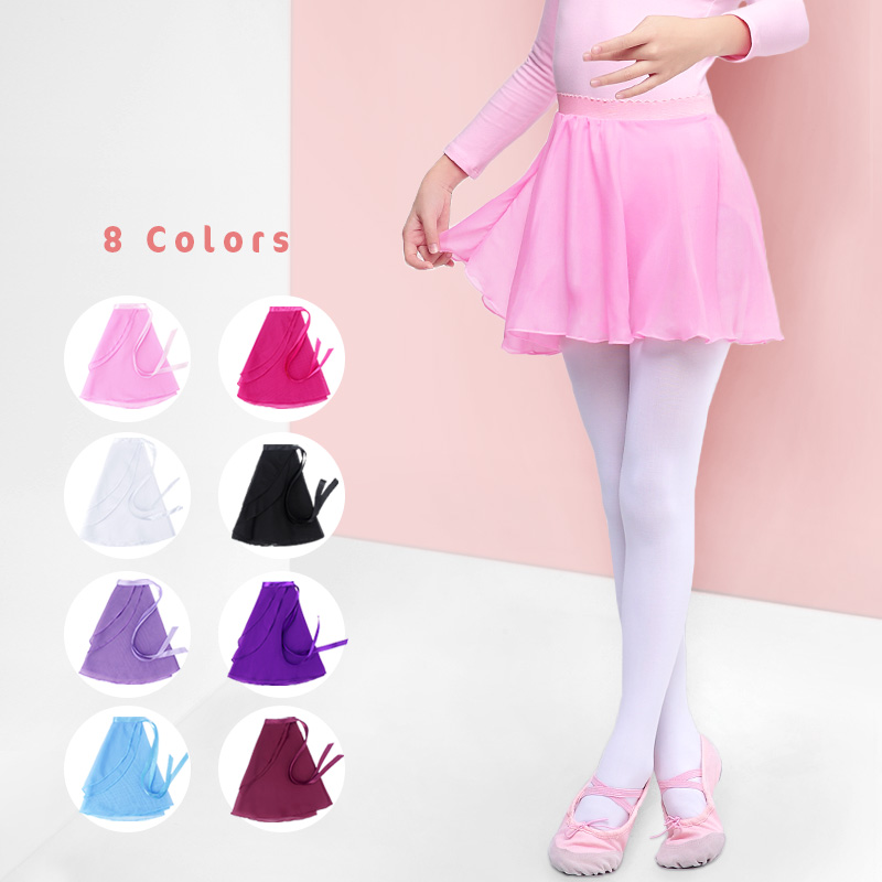 Ballet Dance Skirt Children Dance Dresses Kids Skirt Girls Ballet Dress Dance Wear Summer Chiffon Skirts