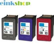 3pk para hp 56 57 58 c6656a c6657a c6658a cartucho de tinta para hp officejet j5500 all-in-one j5508 j5520 impresora