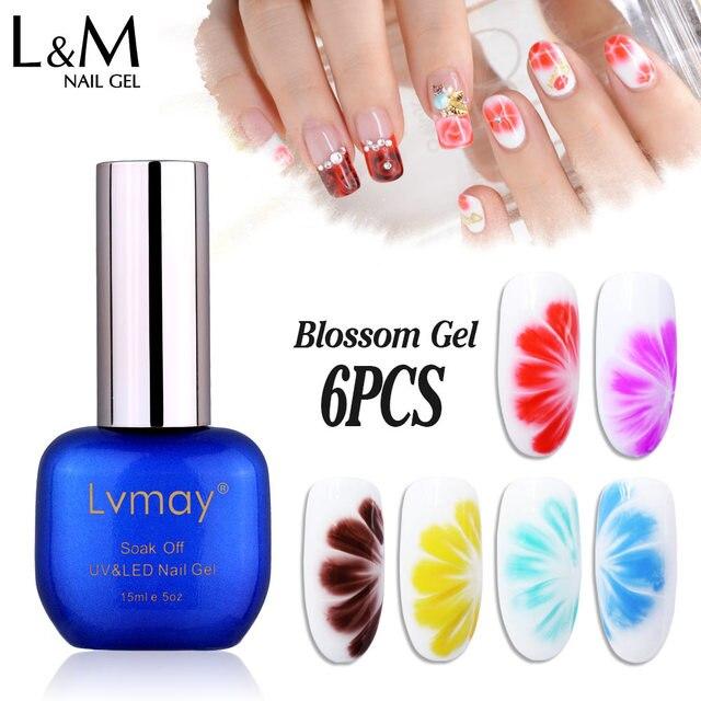 US $26.0 |Blossom Gel Nail Polish Bright Colors DIY Nail Art Lvmay Beauty  Flower Uv Nail Gel 6pcs /lot -in Nail Gel from Beauty & Health on ...
