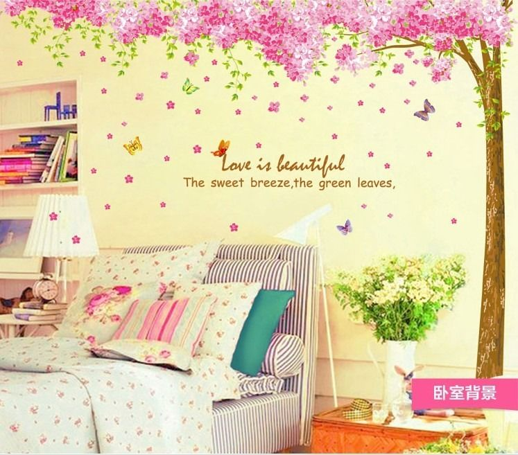 DIY Wall Art Home Decor Mural Quote Decal Sticker For Wall Pink ...