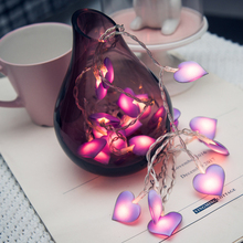 Led String Fairy Light Love Heart Wedding Christmas LED Pink Girl Indoor Party Garden Garland lighting