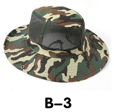 Новые модные камуфляжные летние кепки для мужчин и женщин, мужские круглые шапочки для военного кемпинга, уличная Солнцезащитная шляпа - Цвет: B 3