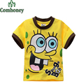 Boys T shirt Spongebob Summer Baby Girls T-shirt Cartoon Short Sleeve Tshirt for Children Minnie Mouse Tees Tops Kids Clothes