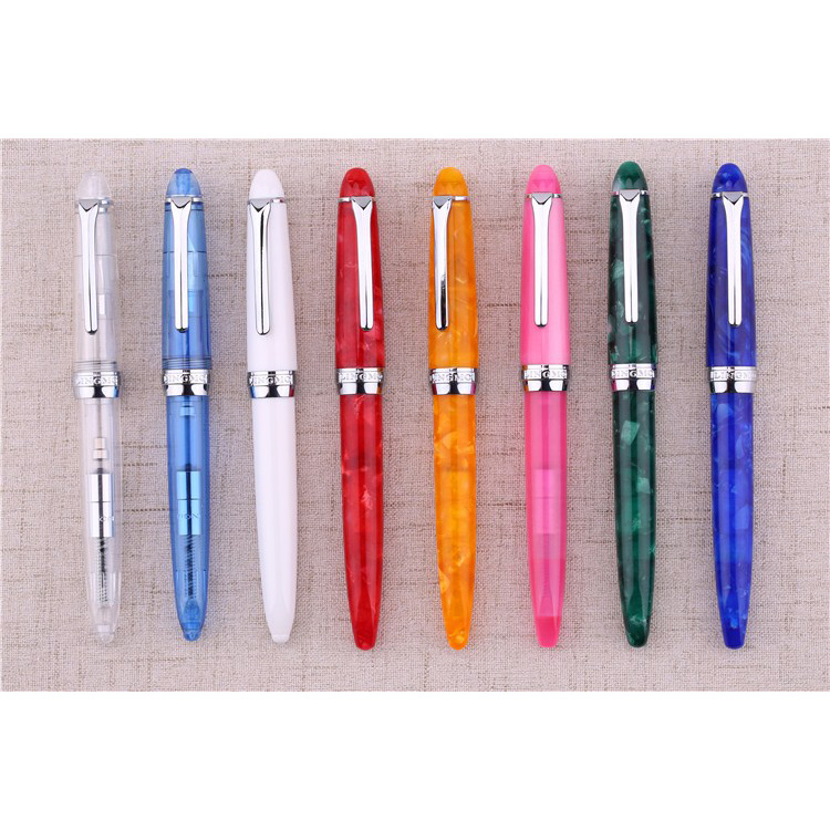 Christmas Gift Lorelei Kawaii Colorful Transparent Resin Fountain Pen 0.5mm Iridium Nib Luxury Gem Color Ink Pens with Gift Box