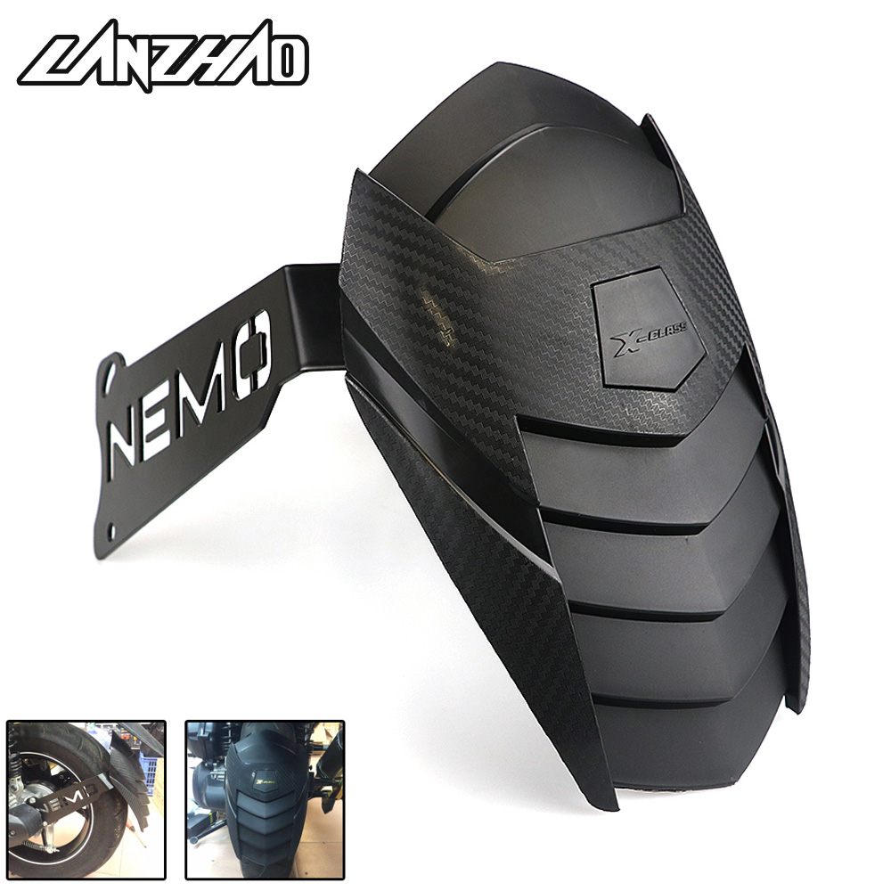 Motorcycle Rear Wheel Fender Mudguard Black Carbon Scooter Accessories For Yamaha Aerox 155 NVX155 2017 2018