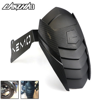 Motorcycle Rear Wheel Fender Mudguard Black Carbon Scooter Accessories for Yamaha Aerox 155 NVX155 2017 2018 laptop bag