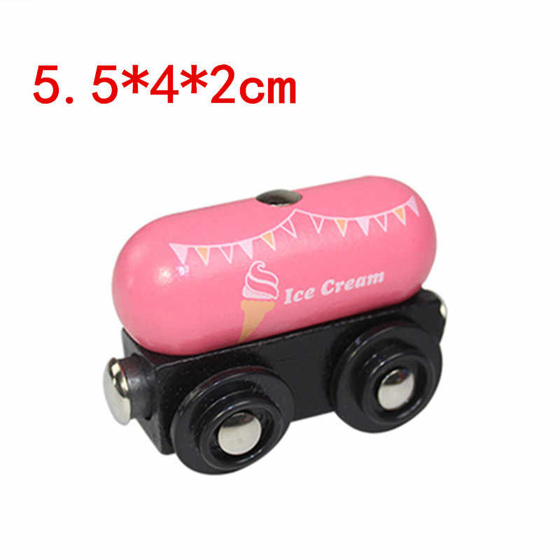EDWONE wooden magnetic train for Tmas wooden tracks can be connected to the Tmas train variety wooden train E15ice cream car